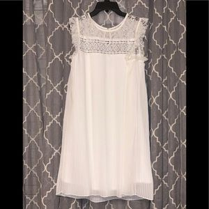 White Lace Top Baby Doll Dress